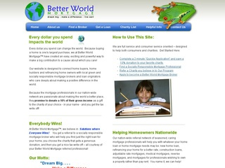 Better World Mortgage.com - Green & Socially Responsible!