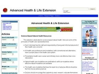 Advanced Health & Life Extension