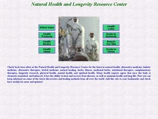 Natural Health and Longevity Resource Center
