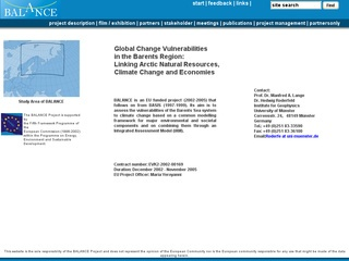 Global Change Vulnerabilities in the Barents Region: Linking Several Resources