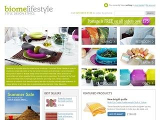Eco friendly and ethical home furnishings and gifts: Biome Lifest