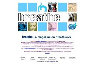 Breathe Magazine for Rebirthing and Breathwork