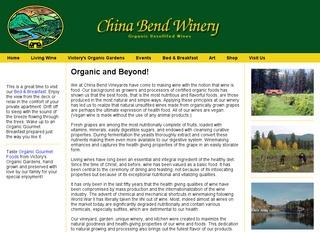 China Bend Winery and Victory's Organic Garden