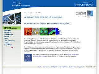 Energy and Semiconductor Research, University of Oldenburg, Deutschland