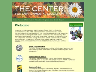 The Center for Environmental Education and Natural History at Miami University