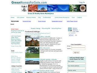 Green Real Estate Environmental Homes Eco Homes Green Real Estate ...