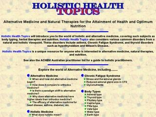 Holistic Health Topics