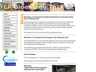 IEA Biomass Combustion and Co-firing