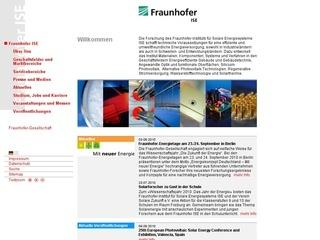 Fraunhofer Institute for Solar Energy Systems