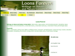 Loons Forever: Writings on Nature and Nature Conservation