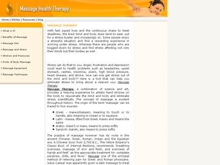 Massage Therapy | Massage