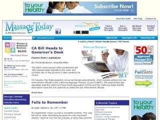 The News Source for the Massage Therapy and Spa Community ...