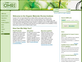 The Organic Materials Review Institute