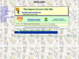Organic Growers Web Site