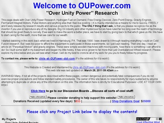 Over Unity Power Research