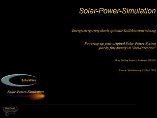 Solarware's Solar-Power-Simulation