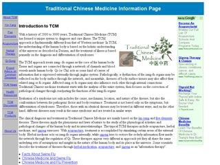 Traditional Chinese Medicine Information Page