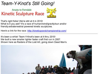 Team Y-knot's Kinetic Sculpture Site