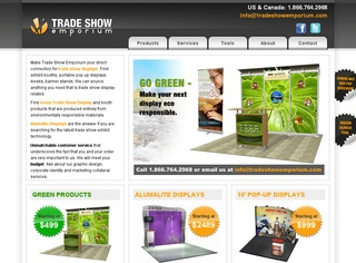 Green Trade Show Displays from Trade Show Emporium